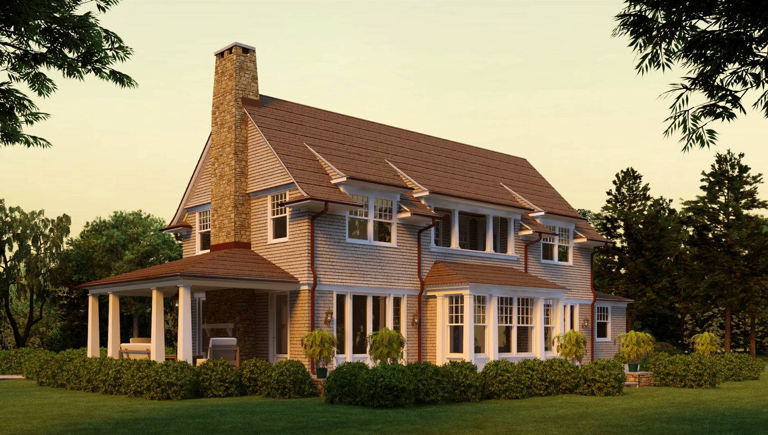 Lewey Lake Shingle Style Home Plans David Neff Architect