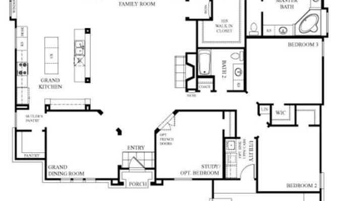 Like One Story House Simple Open Floor Plan