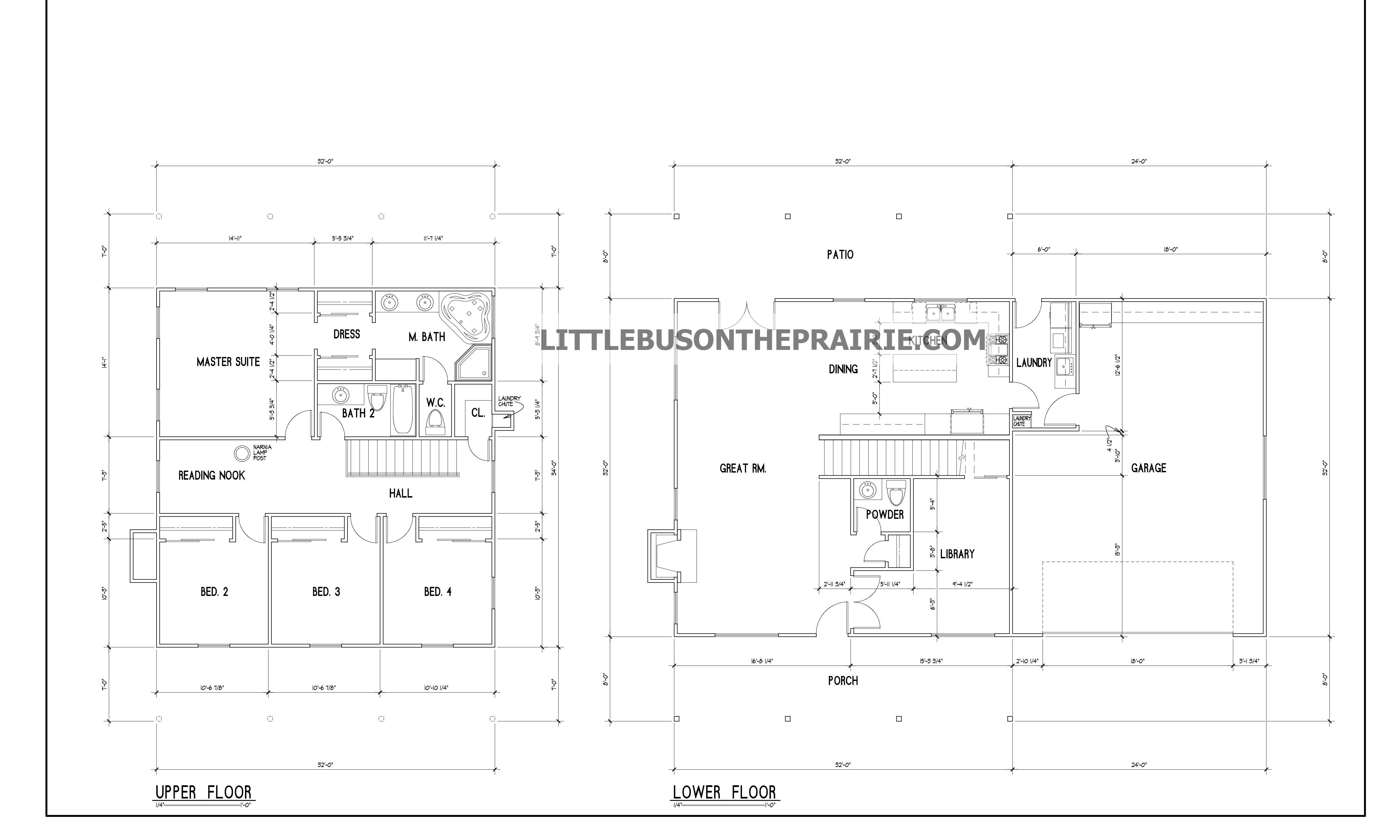 Little House Prairie Floor Plans