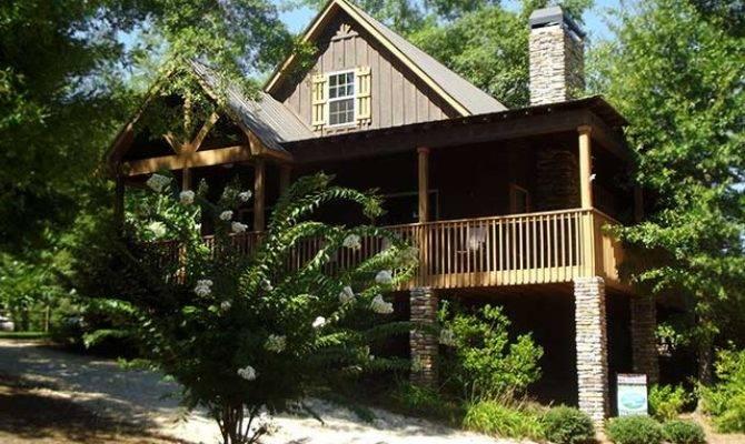 Little River Cabin Traditional Exterior Atlanta