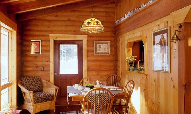 Littleton Log Home Traditional Dining Room