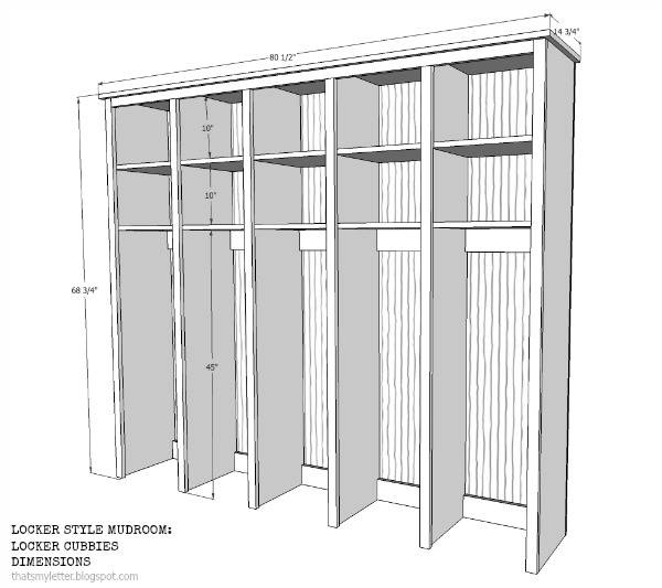 Locker Style Mudroom Cubbies Jaime Costiglio