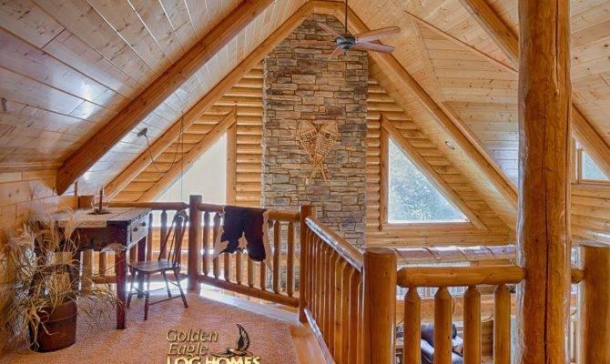 Lofted Log Floor Plan Golden Eagle Homes