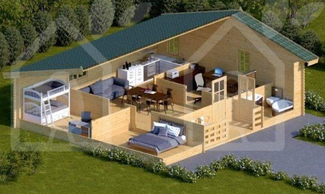 Log Cabin Benefits Bedroom Residential
