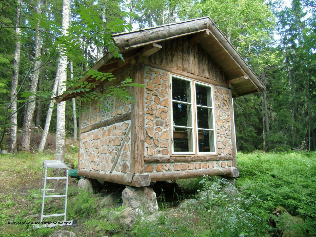 Log Cabin Cordwood Construction Dot Wordpress Small House Tiny