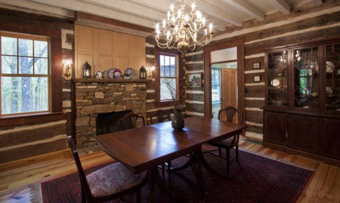 Log Cabin Dining Room Rustic