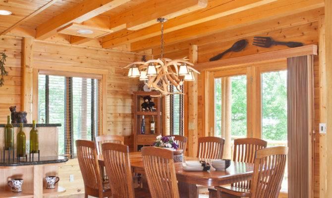 Log Cabin Hideaway Rustic Dining Room Metro