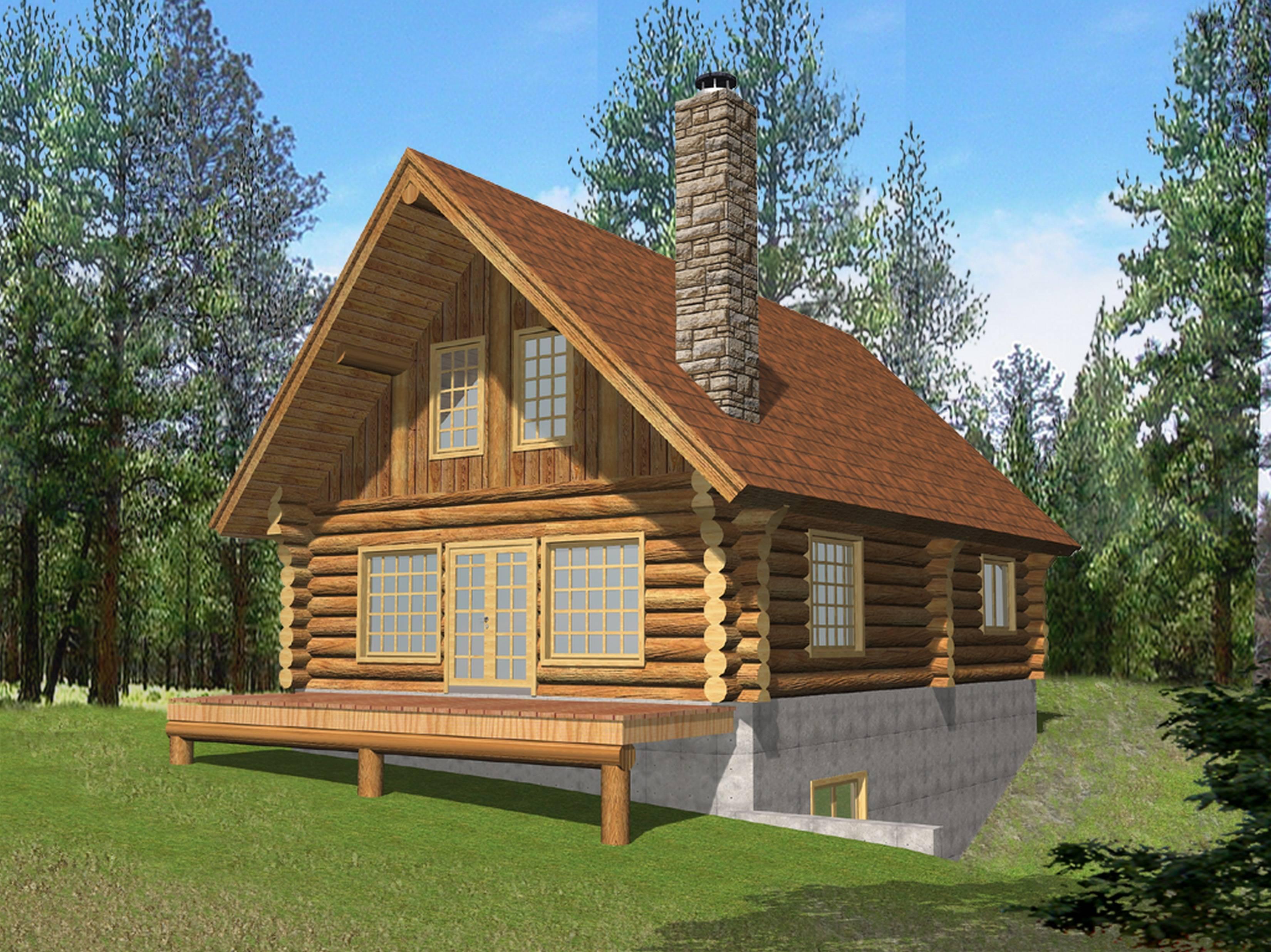 Log Cabin Home Designs Floor Plans