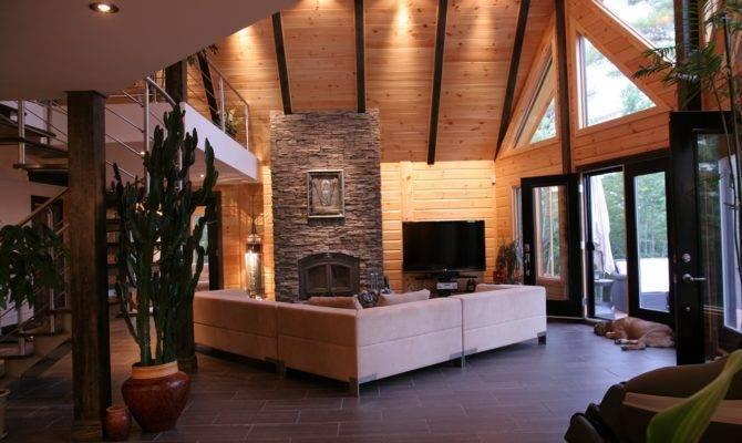 Log Cabin Interiors Most Comfortable