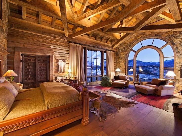 Log Cabin Master Suite Dream Homes Pinterest