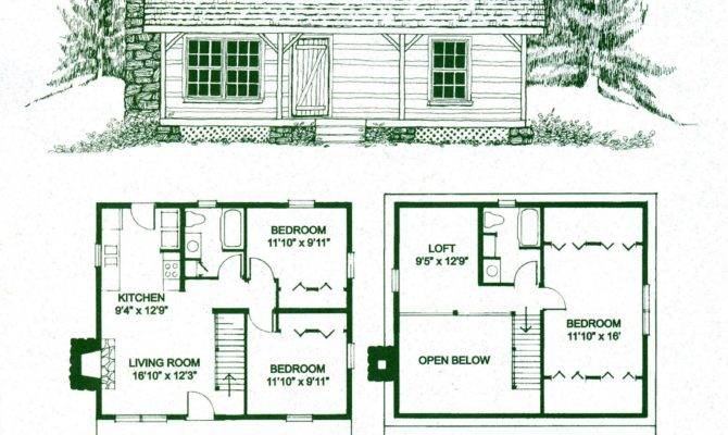 Log Cabins Cabin Floor Plans Small