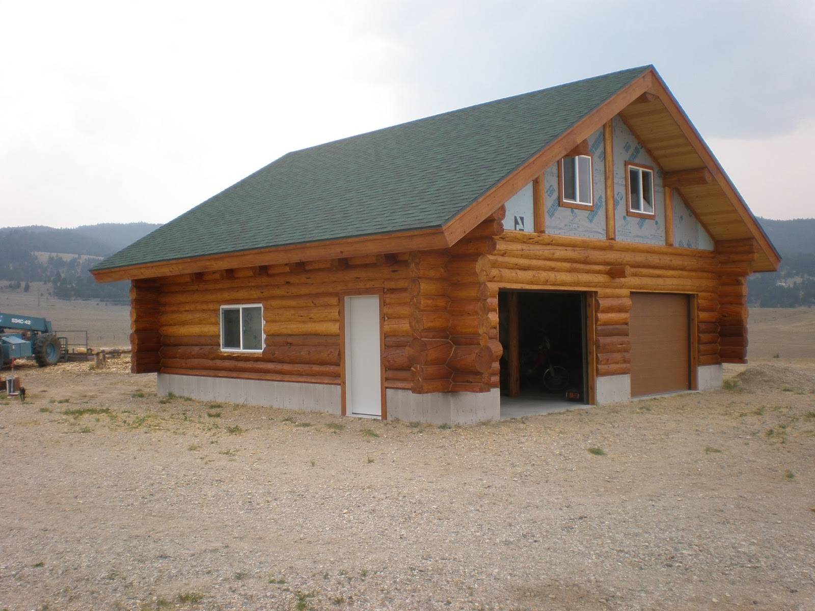 Log Garage Loft Anderson Cabin Fever Home Building