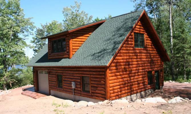 Log Garage Loft Wooden Craft Design