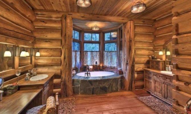 Log Home Bathrooms Bathroom Ideas Pinterest