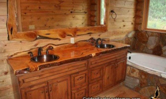Log Home Bathrooms Bathroom Natural Wood Accents