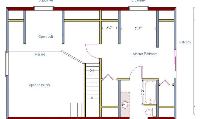 Log Home Floor Plan Square Feet Plus Loft