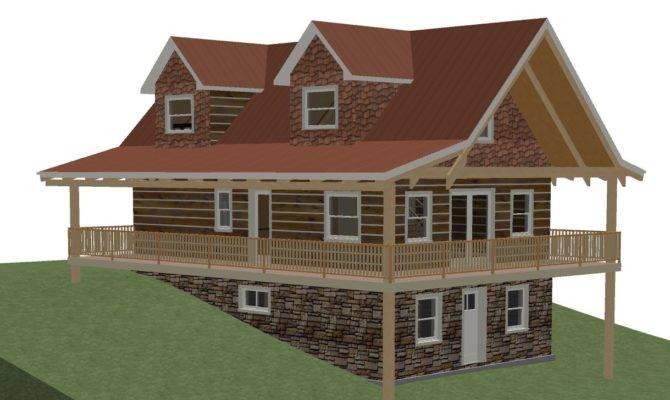 Log Home Floor Plan Square Feet Plus