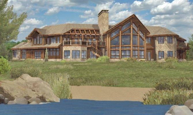 Log Home Floor Plans Petenwell Estate Wisconsin Homes