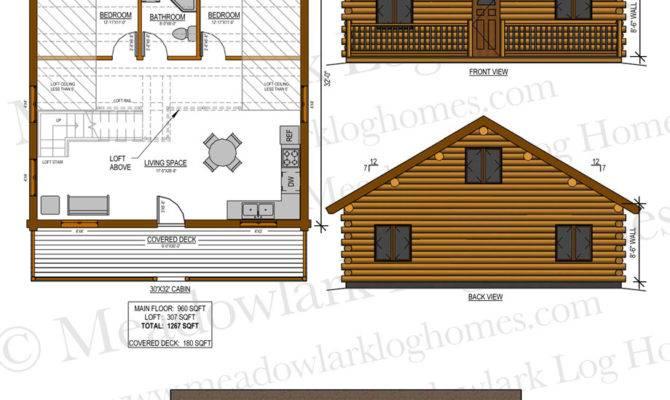 Log Home Loft Meadowlark Homes