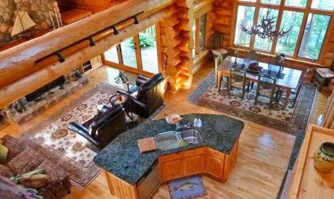 Log Homes Open Floor Plans Flooring Ideas