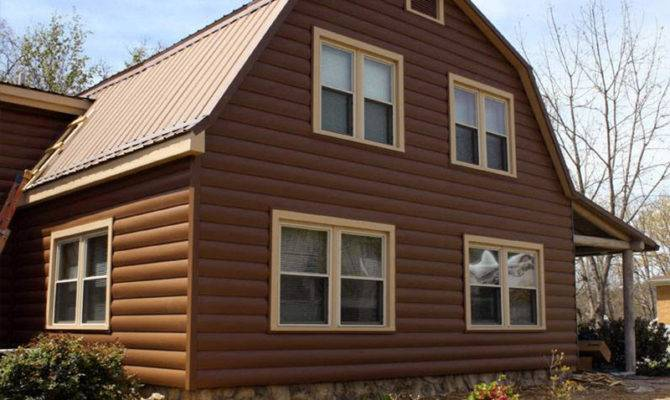 Log Style Siding Great Way Give Your Home Cozy Look