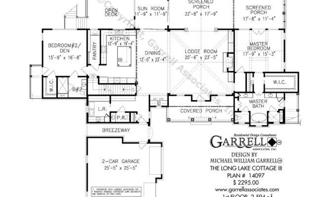 Long Lake Cottage Iii Covered Porch Plans