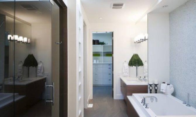 Long Narrow Bathroom Home Design Ideas Remodel