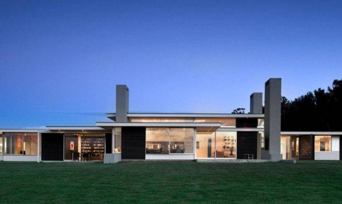 Long One Storey House Plan Dark Iron Walls Martinborough