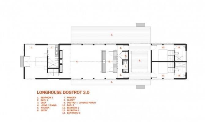 Longhouse Dogtrot Floor Plan Bedroom Architect Designed Set
