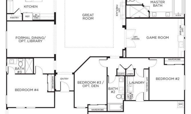Love Layout Extra Rooms Single Story Floor