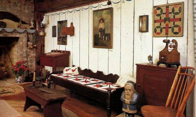 Love Place Primitive Colonial Keeping Room Pinterest