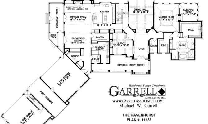 Love Port Cochere Between Garages Havenhurst House Plan