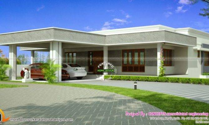 Lovely Modern Flat Roof House Plans New Home Design