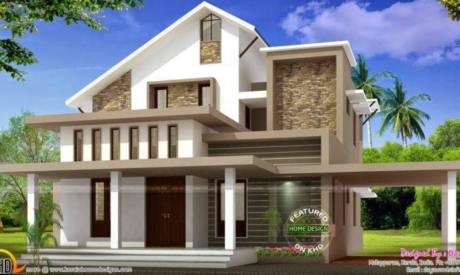 Low Budget Semi Contemporary Home Kerala Design