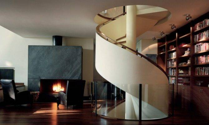 Luxurious Russian House Amazing Spiral Staircase