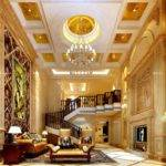 Luxury America Villa Living Room Interior Design Rendering