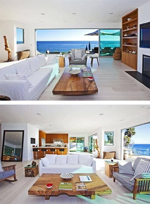 Luxury Beach House Design Malibu California Interior