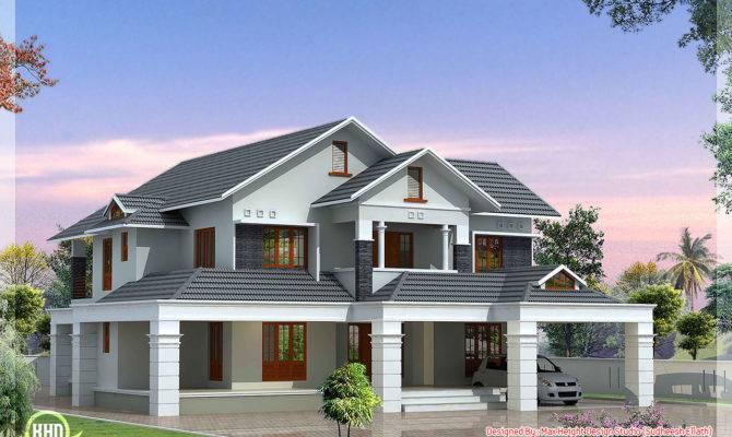 Luxury Bedroom Villa Kerala Home Design Floor Plans