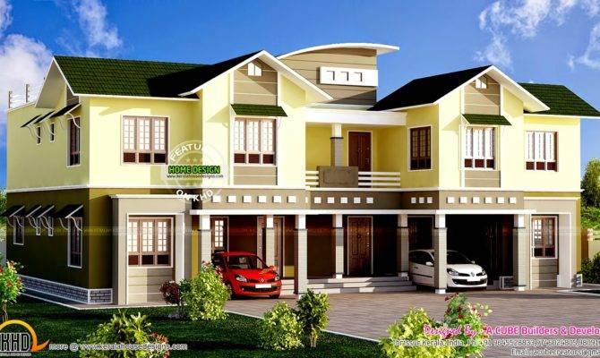 Luxury Duplex Home Kerala Design Floor Plans