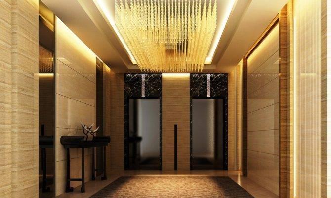 Luxury Elevator Hall Ceiling Design