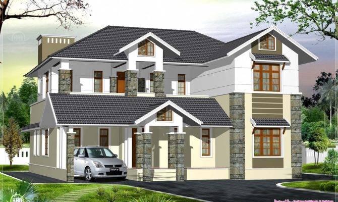 Luxury Kerala Style Villa Exterior Design Home