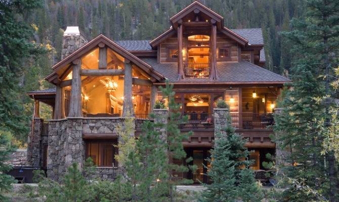 Luxury Log Home Plans Bold Natural Accents Ideas