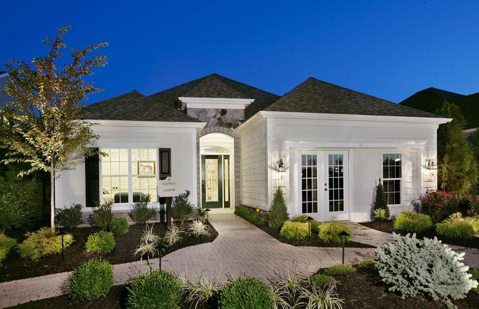 Luxury Single Story Home Exteriors Equestra Howell Twp