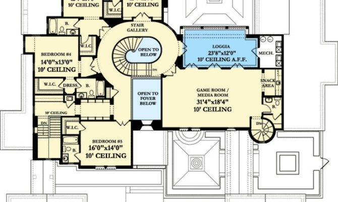 Luxury Spanish Colonial House Plan Floor