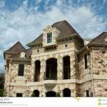 Luxury Stone House Balcony Blue