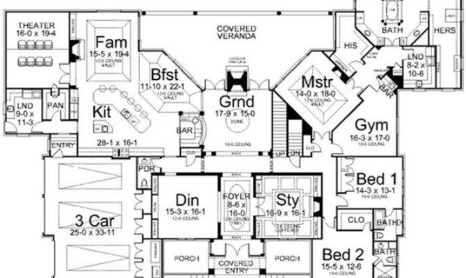 Luxury Style House Plans Square Foot Home Story