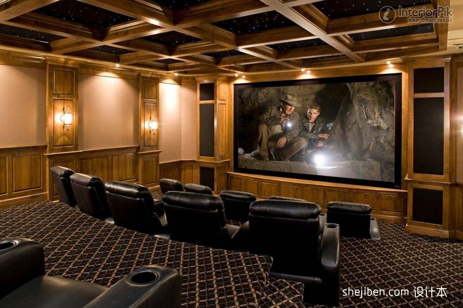 Luxury Villa Home Theater Book Decoration