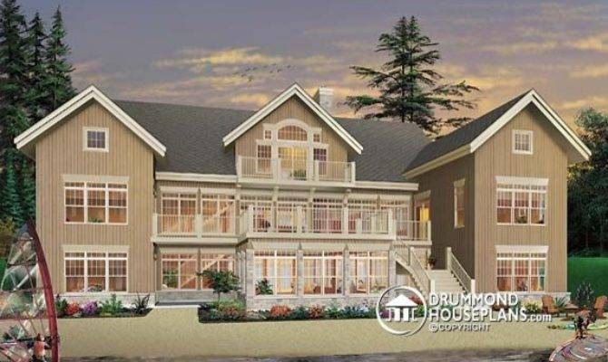 Luxury Waterfront Cottage Design Drummond House Plans