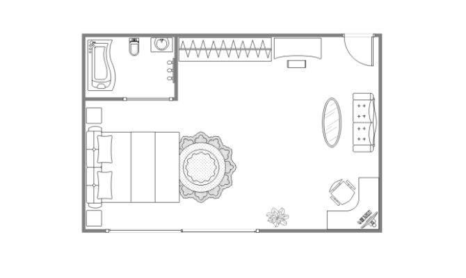 Main Bedroom Floor Plan