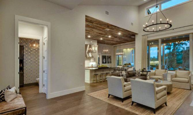 Main Floor Plan Ideas New Home Foyer Opens Large Living Room